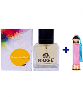 Swiss Rose Perfume+10 Ml Rose Attar Free