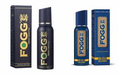 Fogg Fresh Oriental Black Series & Bleu Island Body Spray For Men -120 Ml Each