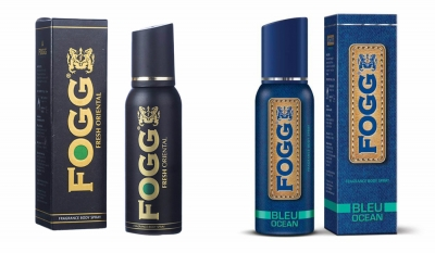 Fogg Fresh Oriental Black Series & Bleu Ocean Body Spray For Men -120 Ml Each