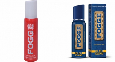 Fogg Napoleon & Bleu Island Body Spray For Men -120 Ml Each