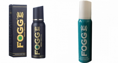 Fogg Fresh Oriental Black Series & Majestic Body Spray For Men -120 Ml Each