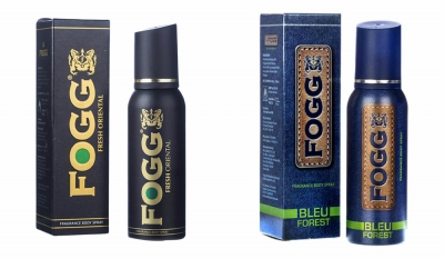 Fogg Fresh Oriental Black Series & Bleu Forest Body Spray For Men -120 Ml Each