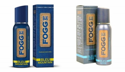 Fogg Bleu Mountain & Bleu Skies Body Spray For Men -120 Ml Each