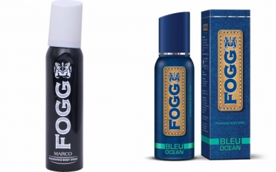 Fogg Marco  & Bleu Ocean Body Spray For Men -120 Ml Each