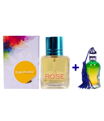 T-Rose Perfume + 10 ML Rose Attar Free