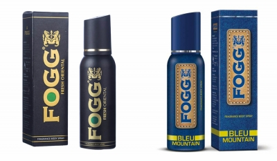 Fogg Fresh Oriental Black Series & Bleu Mountain Body Spray For Men -120 Ml Each