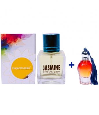 Jasmine Perfume 100 + 10 Ml Jasmine oil Free