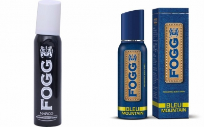 Fogg Marco & Bleu Mountain Body Spray For Men -120 Ml Each