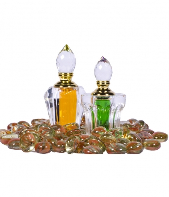 Gift Set of Crystal Attar Bottles for Couple