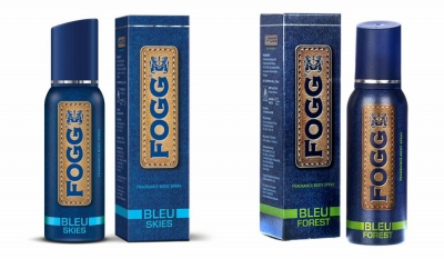 Fogg Bleu Skies & Bleu Forest Body Spray For Men -120 Ml Each