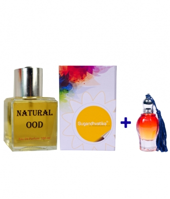 Natural Ood Perfume + 10 Ml Oudh Attar Free