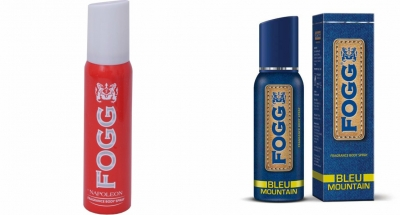 Fogg Napoleon & Bleu Mountain Body Spray For Men -120 Ml Each